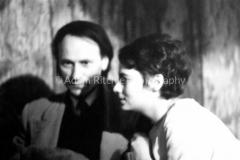 V27-3-6 Jonas Mekas and Barbara Rubin at the Cafe Bizarre