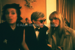 V05 NY Clinical Psychiatrists' hostess greeting Andy Warhol and Nico at Delmonico's Hotel