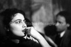 V27-3-5 Barbara Rubin with Jonas Mekas at Cafe Bizarre
