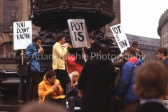 Hoppy at Pot is Fun Rally, Piccadilly Circus 1967