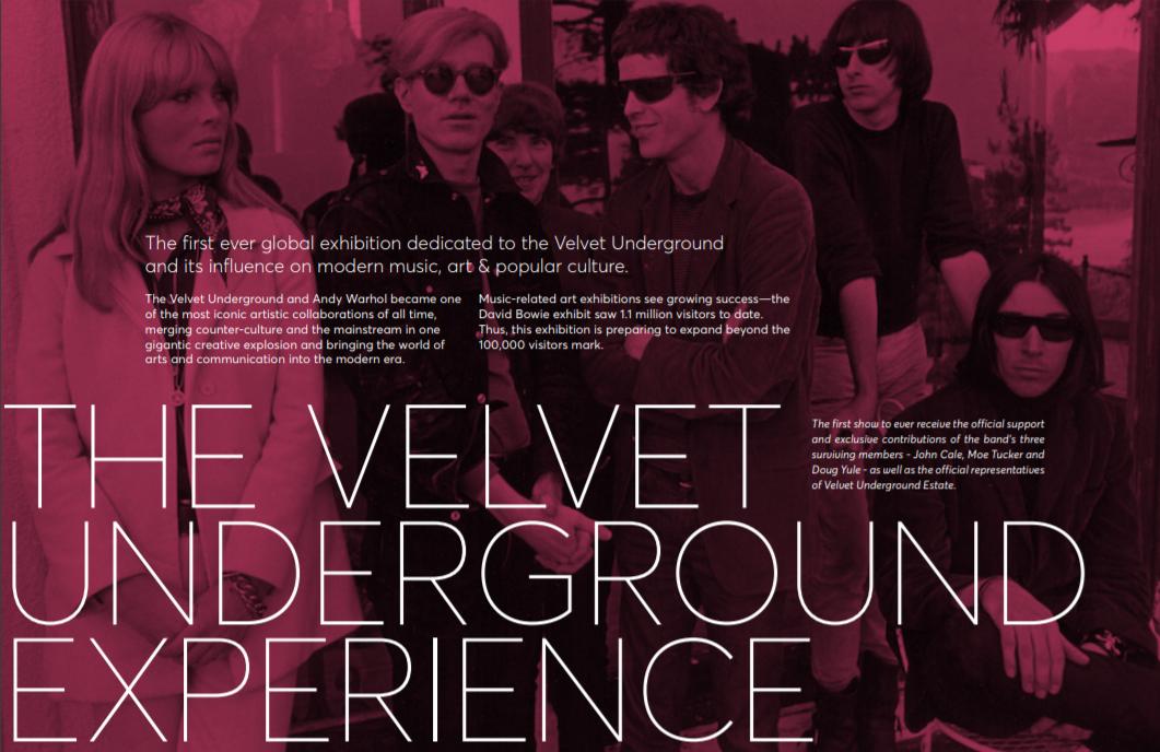 "Resultado de imagen de ""The Velvet Underground Experience"""
