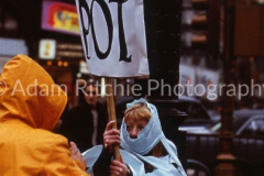 Suzie Creamcheese (?) at Pot is Fun Rally Piccadilly Circus 1967