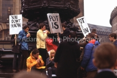 Pot is Fun Rally, Piccadilly Circus 1967, Hoppy on left