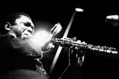 John Coltrane on soprano sax at a club on 2nd or 3rd Avenue, New York about 1965