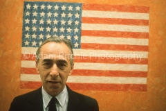 Leo Castelli in his office, possibly a Sunday Times colour supplement commission?