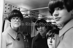 Tuffin & Foale, with Merit Allen and Peggy Moffitt outside Tuffin and Foale in Carnaby St. 1964. I think this was one of my pictures in the Mademoiselle 6-page spread, my first sale