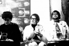 Liverpool Poets: Brian Patten, Roger McGough and Adrian Henri. I went to Liverpool for Town magazine, staying at Adrian Henri's flat. They were amazingly friendly and entertaining with brilliant language. AR130215A